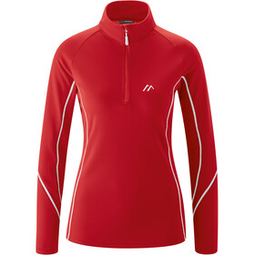 Maier Sports Uschi LS Turtleneck Top Women, tango red